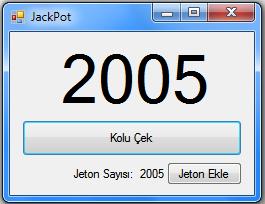 C# Hileli Jackpot