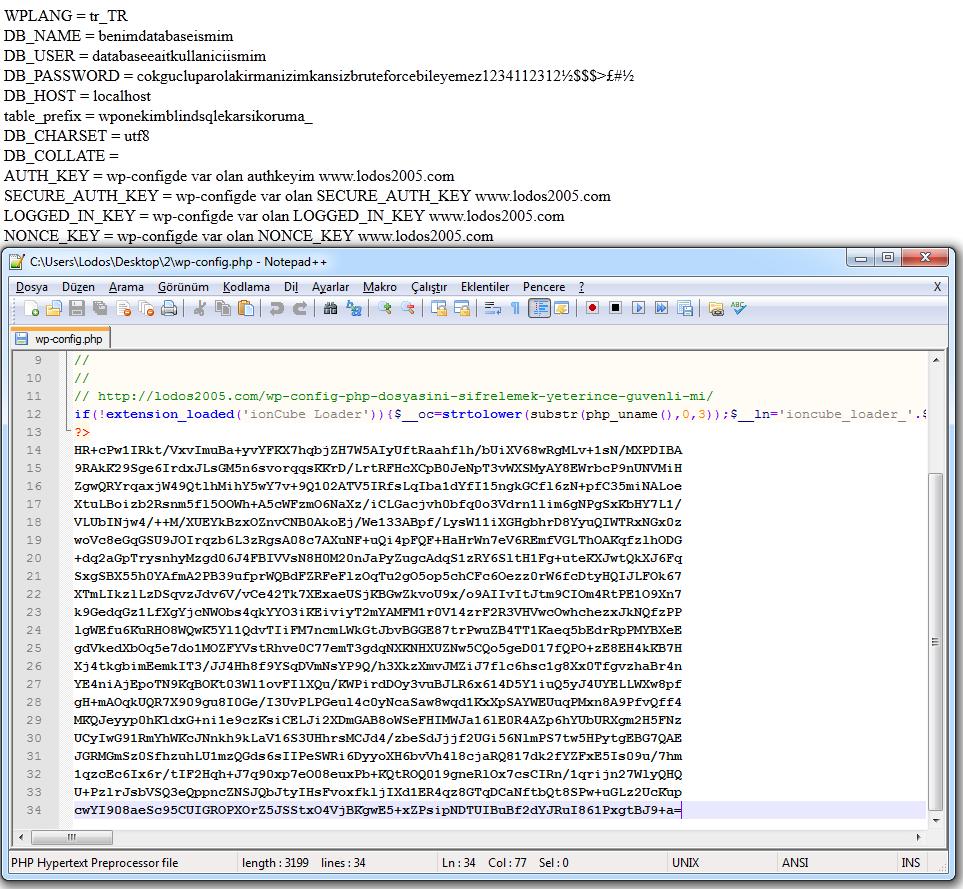 config dosyalarini şifrelemek yeterince güvenli mi